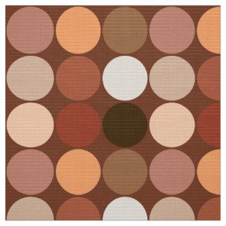 Mid-Century Giant Dots, Chocolate Brown & Tan Fabric