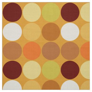 Mid-Century Giant Dots, Mustard Gold and Brown Fabric