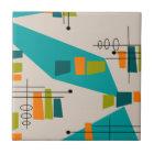 Mid-Century Modern Abstract #55 Tile