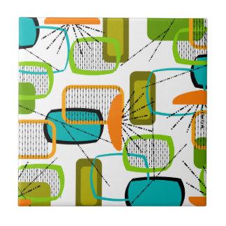 Mid-Century Modern Abstract #57 Tile
