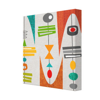 Mid Century Modern Abstract Art Canvas Print