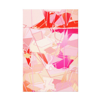 Mid-Century Modern Abstract, Coral Pink & Fuchsia Canvas Print
