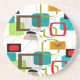 Mid-Century Modern Abstract Design Coaster