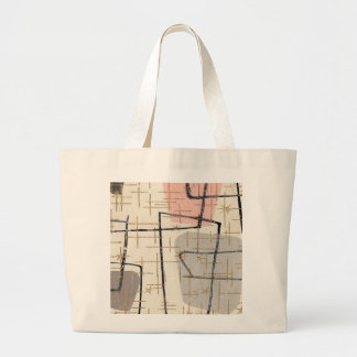 Mid Century Modern Abstract Fabric Tote Bag