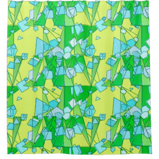 Mid-Century Modern Abstract, Lime Green and Yellow