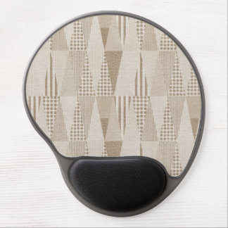 Mid Century Modern Abstract Neutral Print Gel Mouse Pad