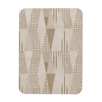 Mid Century Modern Abstract Neutral Print Magnets