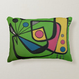 'Mid Century Modern Abstract num 4' on a Accent Pillow
