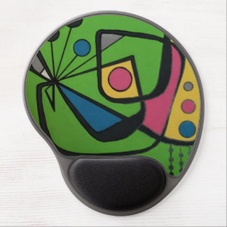 'Mid Century Modern Abstract num 4' on a Gel Mouse Pad