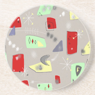 Mid-Century Modern Abstract Rectangles Drink Coasters