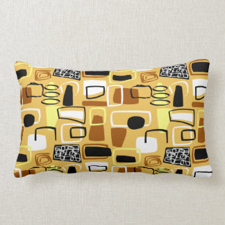 Mid-Century Modern Abstract Shapes Pillow #31