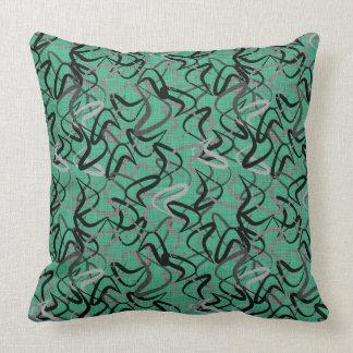 Mid-Century Modern Aqua Boomerang Patterns | Retro Throw Pillow