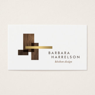 Mid-Century Modern Architectural Logo II on White Business Card
