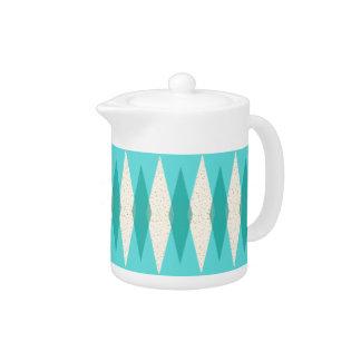 Mid Century Modern Argyle Teapot