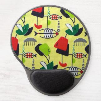 Mid Century Modern Atomic Fish Gel Mousepad