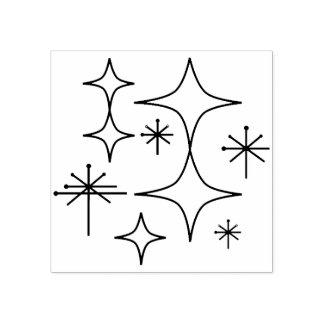 Mid Century Modern Atomic Illustration Drawing Rubber Stamp