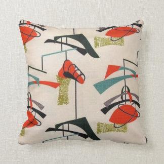Mid Century Modern Atomic Mobile Fabric Pillow