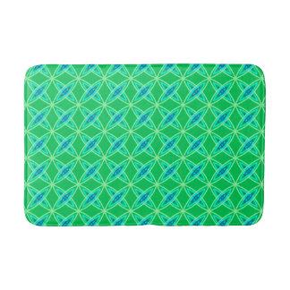 Mid Century Modern Atomic Print - Jade Green Bathroom Mat