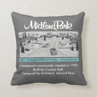 Mid-century Modern Authentic Artwork Pillow