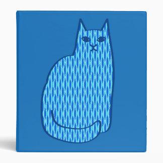 Mid-Century Modern Cat, Cobalt and Light Blue Binders