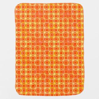 Mid-Century Modern circles, mandarin orange Stroller Blanket