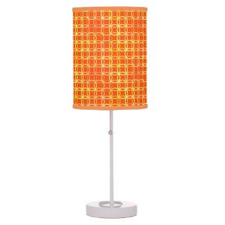 Mid-Century Modern circles, mandarin orange Table Lamp