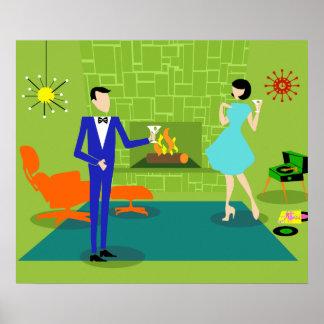Mid Century Modern Couple Poster
