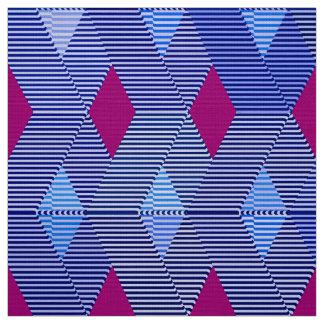 Mid-Century Modern Diamond Print, Cobalt Blue Fabric