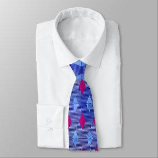 Mid-Century Modern Diamond Print, Cobalt Blue Tie