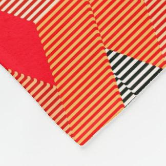 Mid-Century Modern Diamond Print, Coral Orange Fleece Blanket