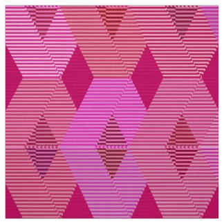 Mid-Century Modern Diamond Print, Fuchsia Pink Fabric