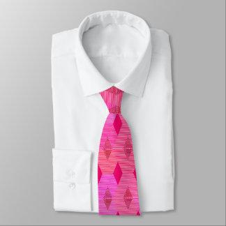 Mid-Century Modern Diamond Print, Fuchsia Pink Tie