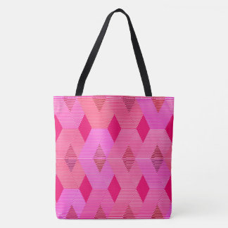 Mid-Century Modern Diamond Print, Fuchsia Pink Tote Bag