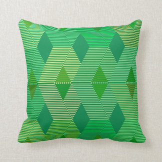 Mid-Century Modern Diamond Print, Jade Green Throw Pillow