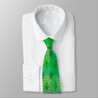 Mid-Century Modern Diamond Print, Jade Green Tie