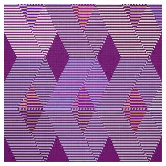 Mid-Century Modern Diamond Print, Violet Purple Fabric