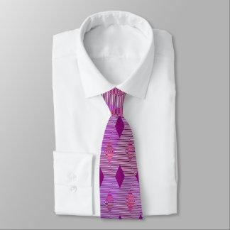 Mid-Century Modern Diamond Print, Violet Purple Tie