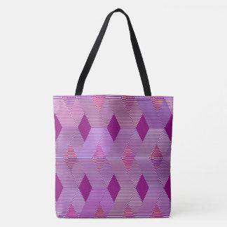 Mid-Century Modern Diamond Print, Violet Purple Tote Bag