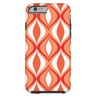 Mid-Century Modern Diamonds, Orange & White Tough iPhone 6 Case