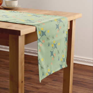 Mid Century Modern Eames Atomic Starbursts Custom Long Table Runner