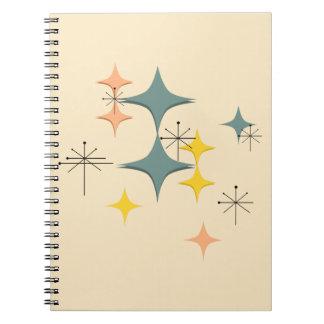 Mid Century Modern Eames Atomic Starbursts Custom Notebooks