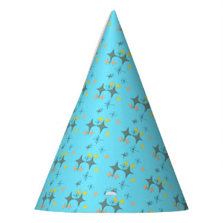 Mid Century Modern Eames Atomic Starbursts Custom Party Hat
