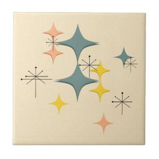 Mid Century Modern Eames Atomic Starbursts Custom Tile