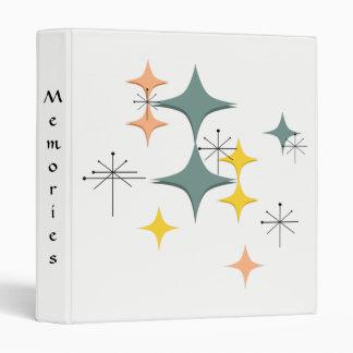 Mid Century Modern Eames Atomic Starbursts Journal Vinyl Binder