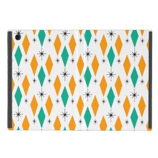 Mid Century Modern Era Diamonds Orange Turquoise Case For iPad Mini