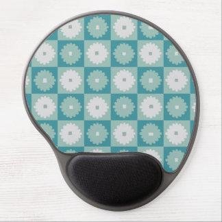 Mid Century Modern Geometric Flower Gel Mousepad