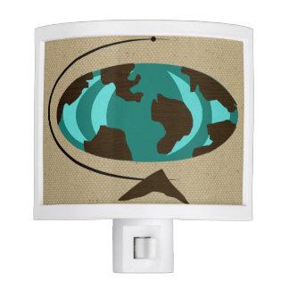 Mid Century Modern Globe Art Night Light