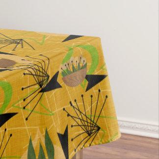 Mid-Century Modern Gold | Houseplants | Atomic Tablecloth