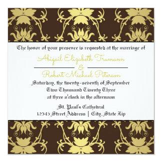 Mid-Century Modern Gold Leaf - Wedding Invitation