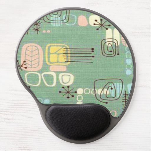 Mid Century Modern Graphic Design Gel Mousepad
